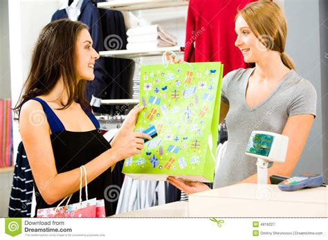 Buying clothes stock image. Image of colorful, boutique ...