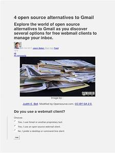 4 Open Source Alternatives To Gmail