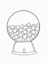 Gumball Machine Coloring Pages Printable Template Round Bubble Print Empty Outline Popular Getcolorings Cartoon Coloringhome sketch template
