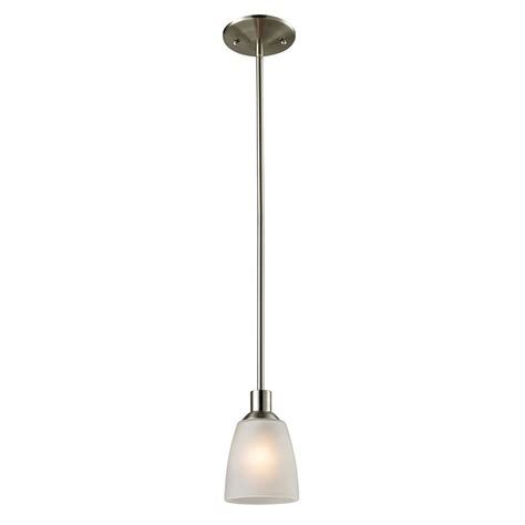 titan lighting 1 light mini pendant in brushed nickel with