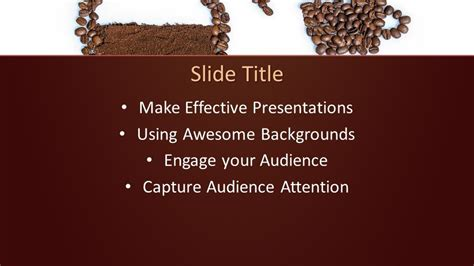coffee beans powerpoint template  powerpoint