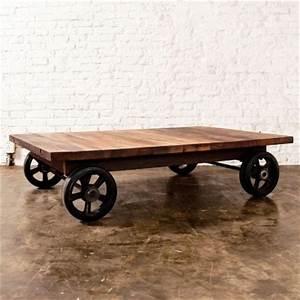 nuevo v33 rectangle reclaimed wood coffee table with With modern coffee table with wheels