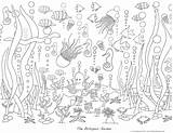 Coloring Pages Ocean Sea Adults Waves Under Adult Garden Deep Colouring Ausmalbilder Printable Sheets Octopus Printables Ozean Mural Project Version sketch template