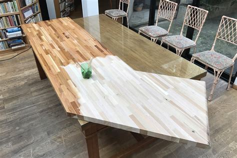plan de travail cuisine chene aménager sa cuisine avec des plans de travail en bois massif