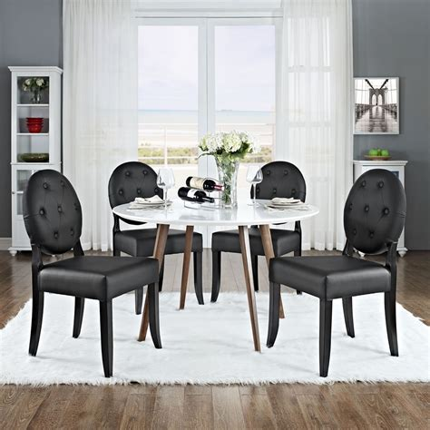 button dining side chair black tufted set of 4 dcg