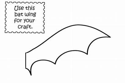 Bat Wings Wing Template Coloring Pumpkin Templates