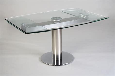 table en verre but table contemporaine en verre avec rallonge