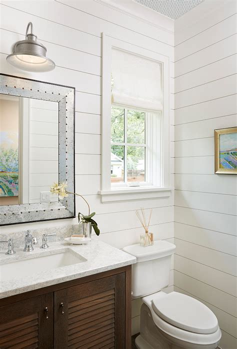 White Shiplap Bathroom shiplap painted white bathroom ideas