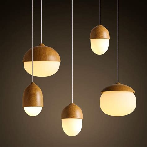 modern nodic wood acrylic pendant l suspension light