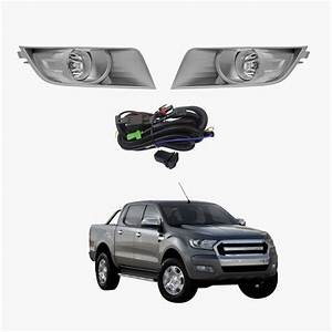 Fog Light Kit For Ford Ranger Px Ute Series 2 2015-2017 With Wiring  U0026 Switch