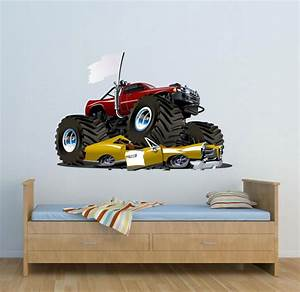 wall decal cool monster jam wall decals monster jam With awesome monster truck wall decals ideas