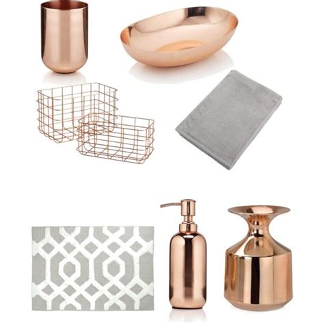 Modern Copper Bathroom Accessories by Bathroom Theme Copper And Grey Hints Of White