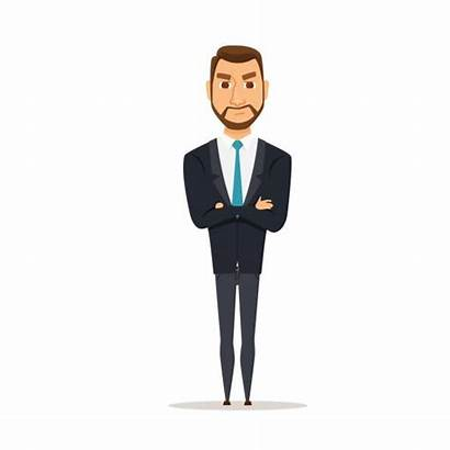Serious Vector Business Angry Illustrations Clip Boss