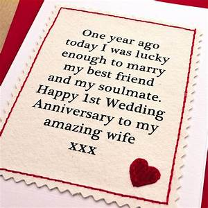 1 year wedding anniversary one year anniversary card for husband