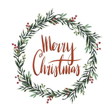 merry christmas watercolor typography vector vector free download
