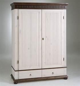 Kleiderschrank 2 Türig Weiß : kleiderschrank 2 t rig wei kolonial kiefer massiv poarta ~ Indierocktalk.com Haus und Dekorationen