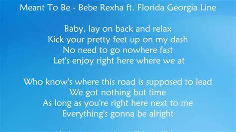 Bebe Rexha Ft. Florida Georgia Line Lyrics