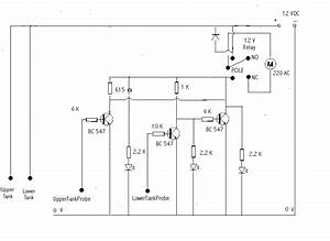 Motor Dry Running  Tank Overflow Water Level Controller Circuit