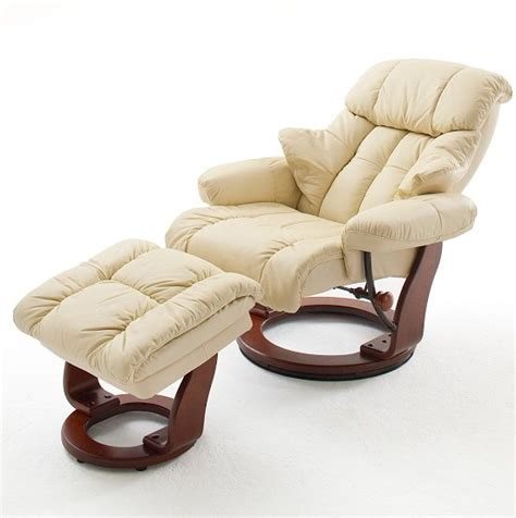 High back leather swivel chair. Calgary Swivel Relaxer Chair Leather With Foot Stool In ...