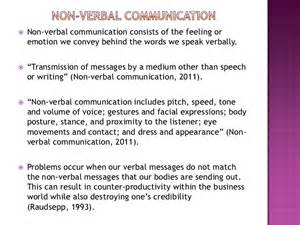 Non Verbal Communication Examples