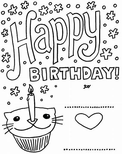Birthday Coloring Pages Dinosaur Printable Card Getcolorings