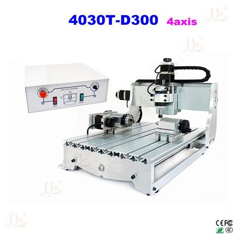 free shipping mini cnc milling machine 4axis 3040 cnc 300w spindle router engraver us144