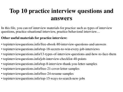 top  practice interview questions  answers