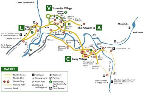 map of yosemite valley donahue