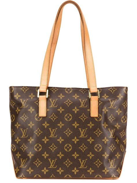 louis vuitton mogrammed tote  brown lyst