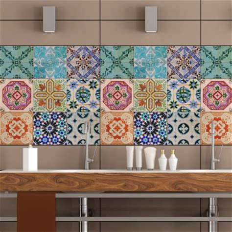 kitchen wall tile stickers portuguese tiles stickers maceira pack of 16 tiles 6449