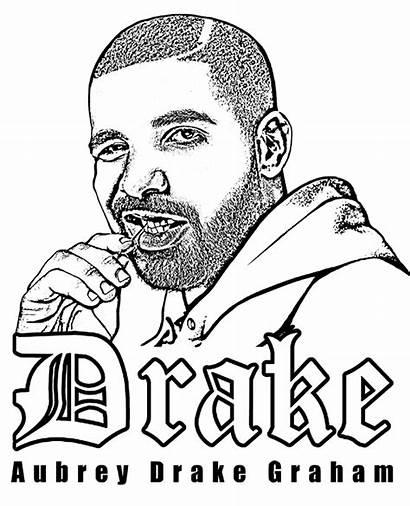 Coloring Drake Pages Rap Aubrey Celebrities Printable