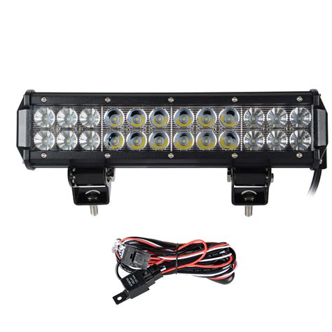 funny led truck light bar 12 quot inch 72w led work light bar for offroad tractor boat
