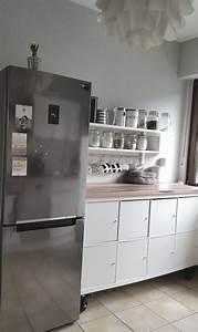Regal Küche Ikea : kallax in der k che tolle idee so lebe ich ikea kleine k che regal k che und h cker k chen ~ A.2002-acura-tl-radio.info Haus und Dekorationen