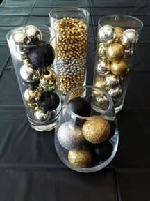 table center pieces 36 black and gold christmas décor ideas