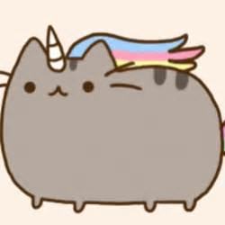 Pusheen the Cat as a Unicorn