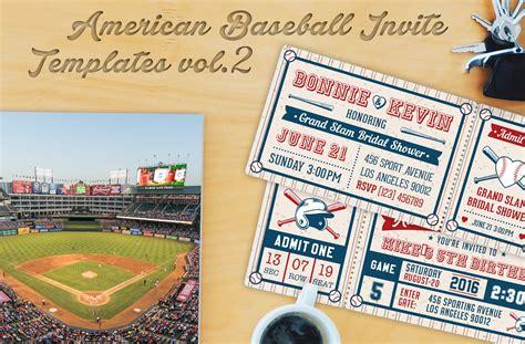 baseball ticket party invites  invitation templates