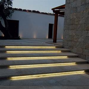 image result for led strips exterior wall lighting With outdoor led strip lights for stairs
