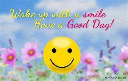 Smile Wake Morning Wishes Quotes Simple Card