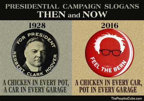 presidential caign slogans then and now