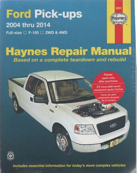 ford  pick ups   haynes service repair manual