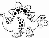 Coloring Pages Dinosaur Dinosaurs Popular sketch template