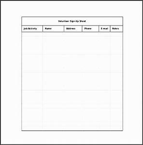 Free Printable Potluck Sign Up Sheet 6 Editable Sign Up Sheet Template Sampletemplatess