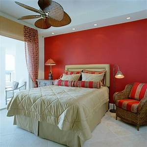 Bold Red Bedroom Interior Design Feature Red Accent Walls