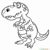 Tyrannosaurus Rex Coloring sketch template