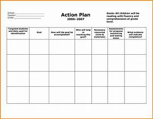 Efficient Action Plan Template Word Sample For School With