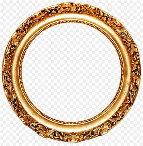 Runde Spiegel Mit Rahmen by Picture Frame Mirror Circle Gold Leaf Golden Frame