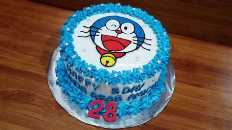 kue ulang  doraemon cake youtube