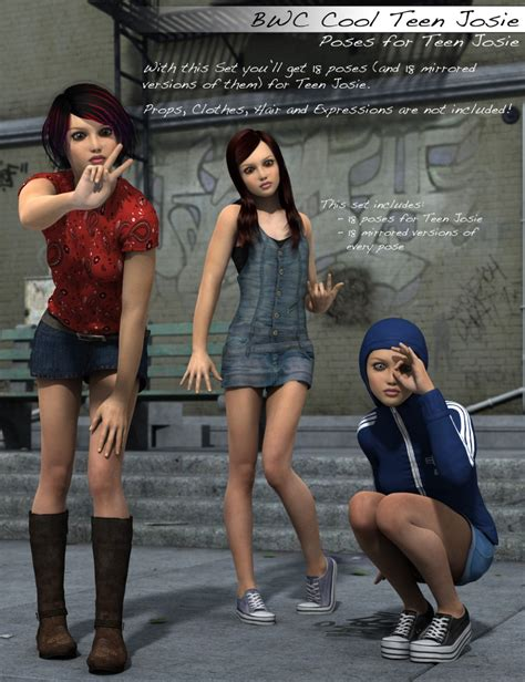 Bwc Cool Teen Josie Poses 3d Models And 3d Software By Daz 3d