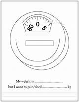Coloring Weight Scale Printable Weigh Educational sketch template