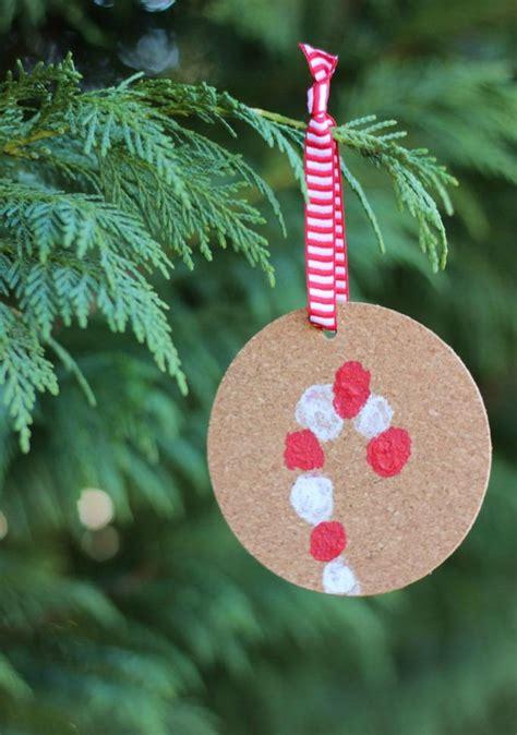 fingerprint candy cane ornament allfreekidscraftscom